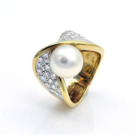 mikawa by damiani pearl and gold ring for sale at