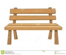 Picnic Table Bench Plans Wooden Bench Isolated Illustration Stock Photography