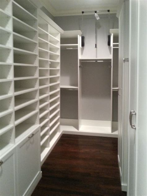 Narrow Closet Shelving by This Closet Makes The Most Of A Narrow Space Lots Of