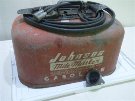 boat gas tank with hose vintage johnson mile master 6 gallon dual hose pressure