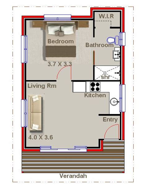 1 bedroom floor plan granny flat 1 bedroom kit home australian kit home plans