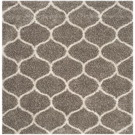 5ft rug safavieh hudson shag gray ivory 5 ft x 5 ft square area rug sgh280b 5sq the home depot