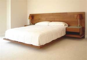 amazing diy brown wood floating bed platform with white