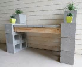 diy cinder block outdoor bench the owner builder network