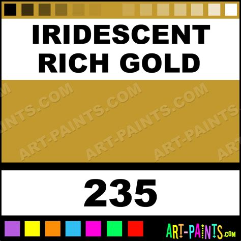 iridescent rich gold soft acrylic paints 235 iridescent rich gold paint iridescent