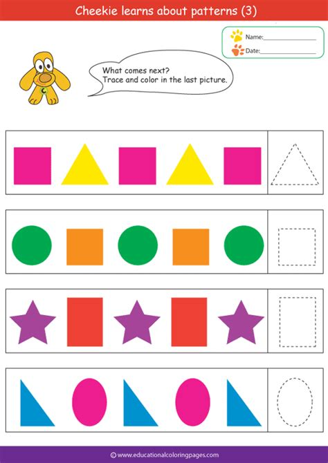 pattern activities preschool patterns coloring pages coloring pages learning colors
