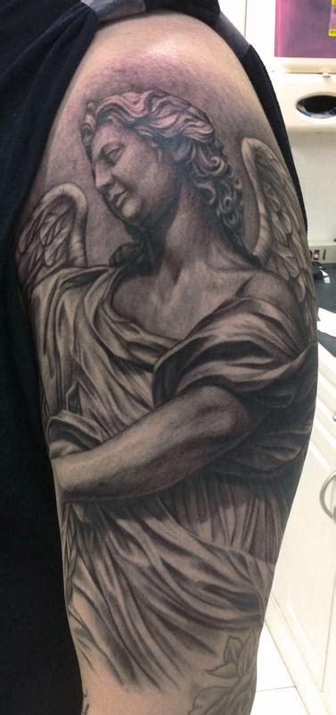 christian tattoo artist sydney angel statue tattoo by pepper tattoonow