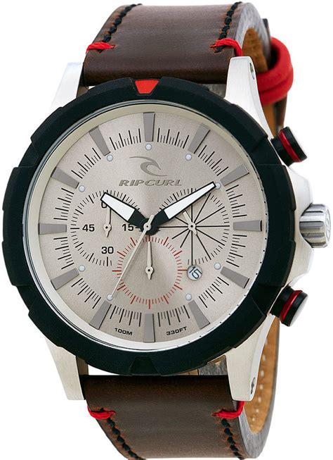 Ripcurl Chrono Brown s rip curl maverick chronograph leather a2735 bei