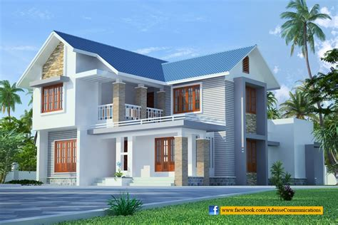sloped roof kerala home design building plans