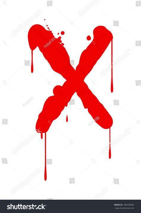x paint paint font type letter x stock vector illustration