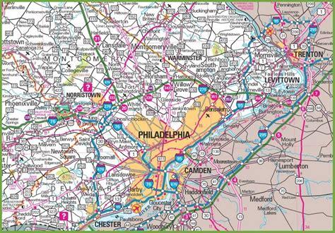 map of america states philadelphia philadelphia area map