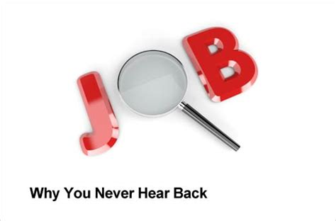 How To Hear Back After Applying For A Top Five Reasons You Never Hear Back After Applying For A