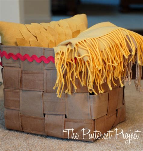 How To Make A Basket Out Of Paper - how to make a decorate basket out of paper bags