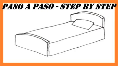 how to draw a bedroom step by step como dibujar una cama paso a paso l how to draw a bed step