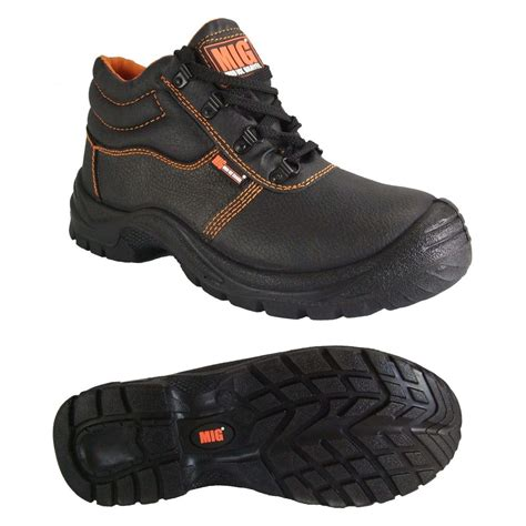 safety boots for mens steel toe cap leather safety boots size 6 to 13 uk