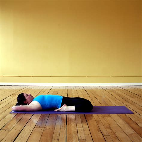 yoga reclining hero pose reclining hero yoga sequence for an aching runner s back