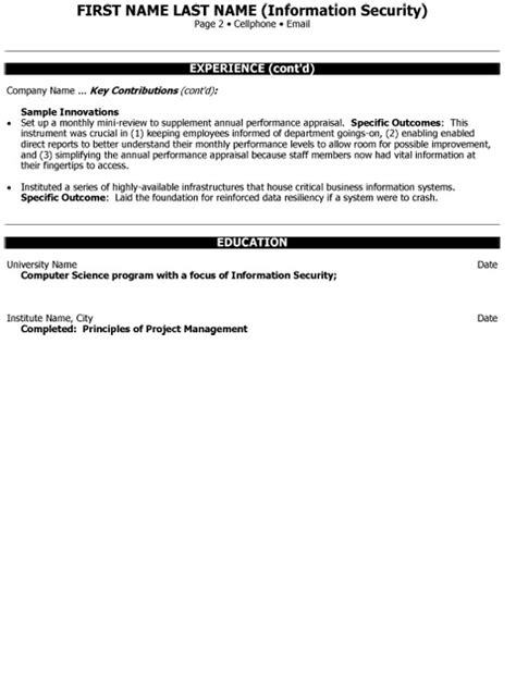 consultant resume example for a senior manager