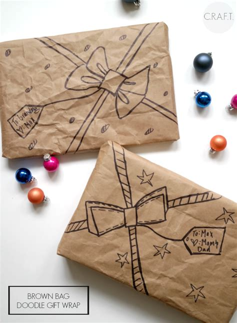 brown paper bag gift wrap 24 gift wrapping ideas brown bags sharpie and wrapped gifts