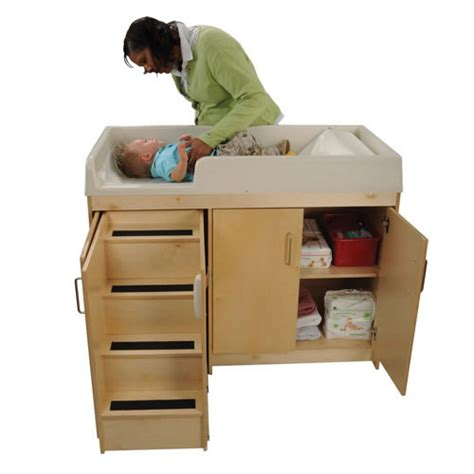 Wooden Step Up Changing Table And Care Change Table