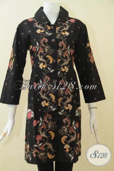 Dress Motif Bunga Warna Hitam batik dasar hitam motif bunga model baju batik modern 2018