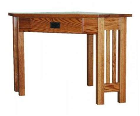Mission Style Corner Desk Woodworking Mission Style Corner Writing Desk