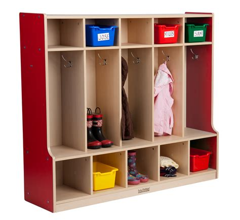 coat locker with bench ce 5 section coat locker with bench red