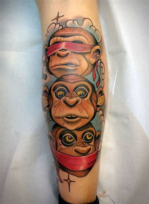 3 by 3 tattoo designs new school monkey pretty awesome new skool tats
