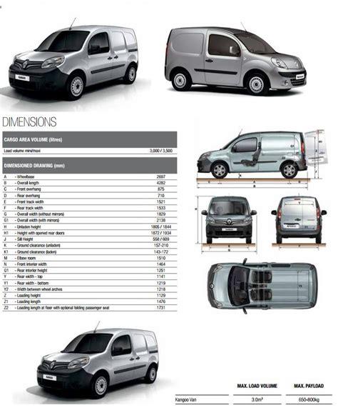 renault kangoo dimensions recommended innolift model for renault kangoo van