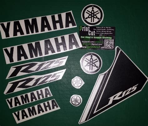 Yamaha Sticker Pack by Yzf R125 Rep Decal Sticker Pack Yzfr125 11 Piece