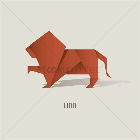 tutorial origami lion origami origami lion vector image stockunlimited origami