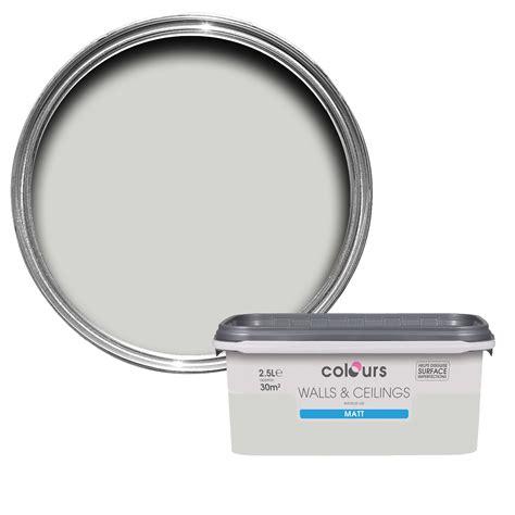 Bathroom Paint Colours Ideas Colours Standard Grey Hints Matt Emulsion Paint 2 5l