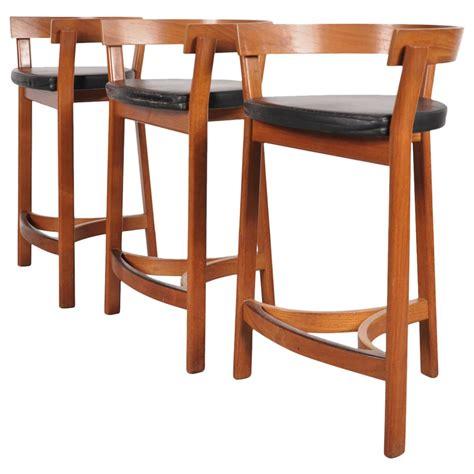 Danica Furniture set of three bar stools by oddense maskinsnedkeri a s domus danica circa 1950 for sale at 1stdibs