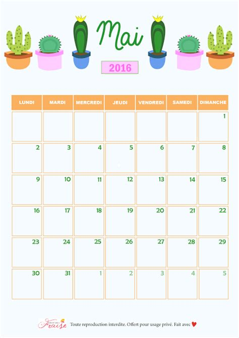 mai calendrier 2016 sirop de fraise blog lifestyle et diy tours paris