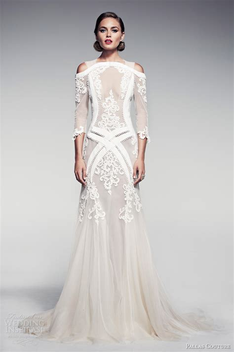 Couture Wedding Dresses by Pallas Couture Summer 2014 Fleur Blanche Bridal