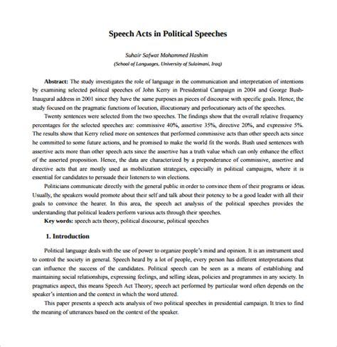Sle Of Election Speech impromptu speech template compare and contrast essay