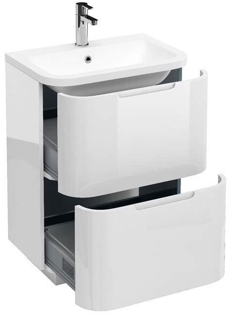 Angled Grab Bar Bathroom by Aqua Cabinets Compact White 600mm Floor Standing Basin