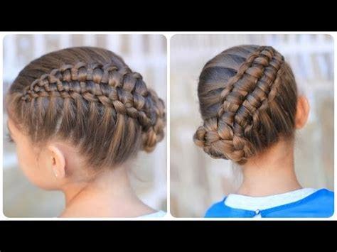 zipper braid updo cute girls hairstyles youtube