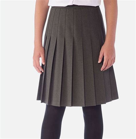 banner stitched pleated school skirt davenport