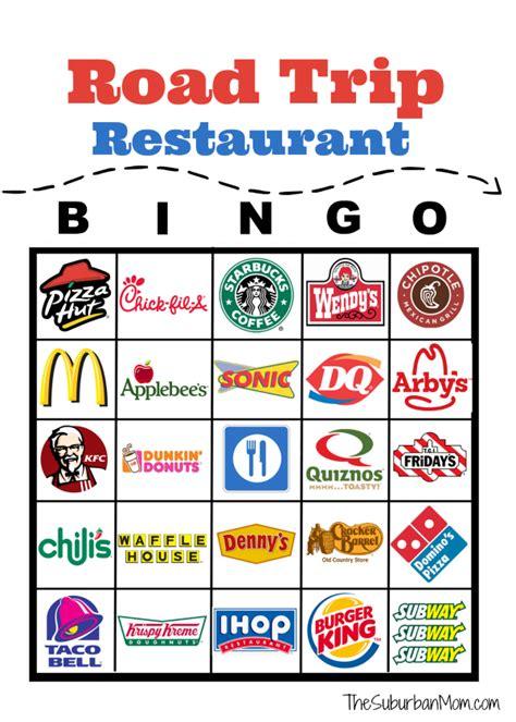 printable road sign bingo road trip restaurant bingo free printable the suburban mom