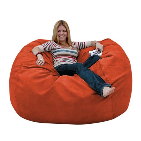 cozy sack 4 bean bag chair large navy bean bag chair large 5 foot cozy sack premium foam filled