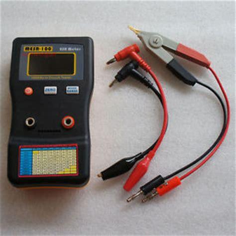low esr capacitor tester mesr 100 v2 esr low ohm in circuit test capacitor meter include smd clip probe ebay