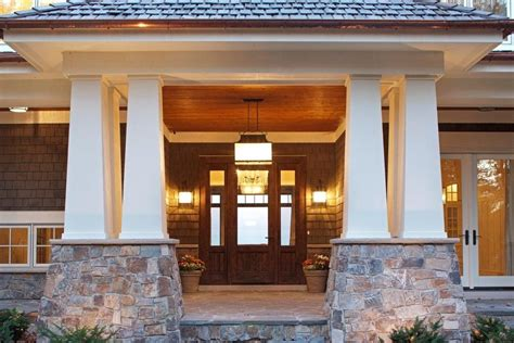 Outdoor Front Entry Lighting Front Porch Entrance Designs Entry Craftsman With Outdoor Lighting Front Door Potted Plants