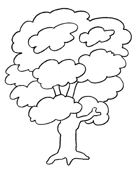 35 Tree Coloring Pages Coloringstar Black And White Tree Coloring Page
