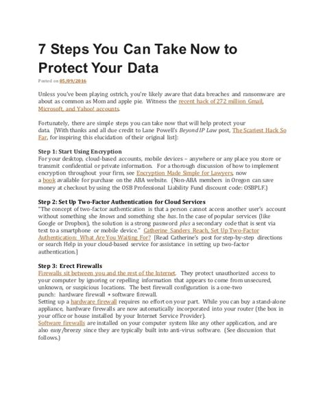 15 Steps You Can Take To Secure Your 7 steps you can take now to protect your data