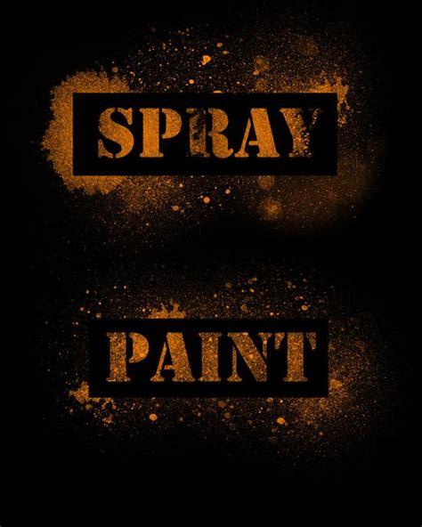spray paint font photoshop paint photoshop brushes psddude
