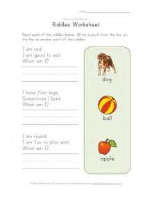 riddles worksheet kids learning station
