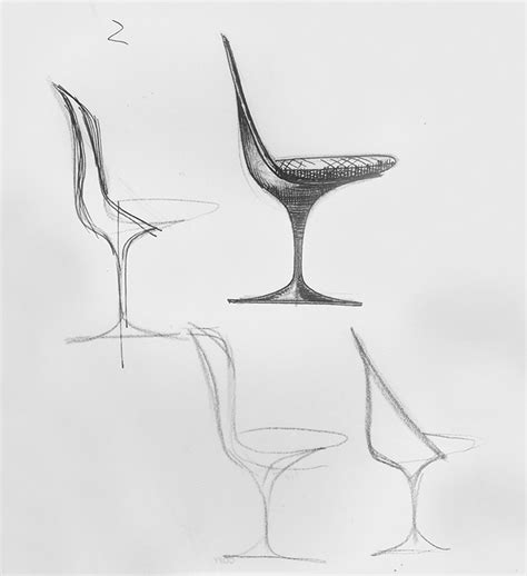 Pencil Sketches Of Chairs Sketch by It Began With A Sketch Knoll Inspiration