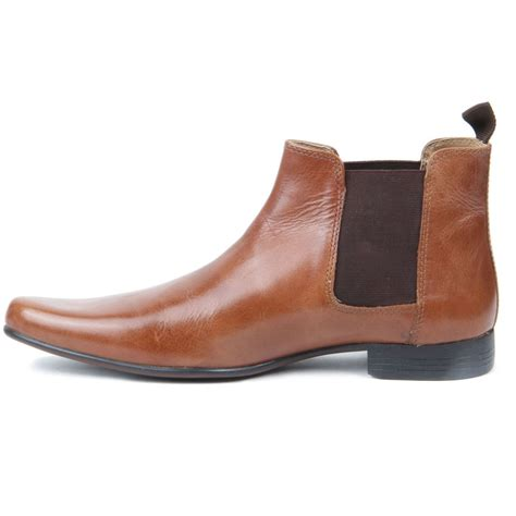 boys slip on genuine leather western heel pointed toe