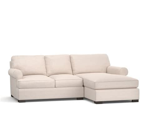 Townsend Sofa by Townsend Upholstered Sofa With Chaise Sectional Pottery Barn