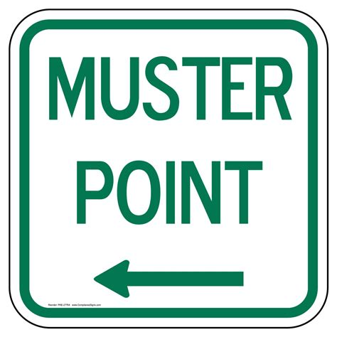 Muster Point Emergency Assembly Muster Point Signs Post Mount